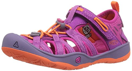 KEEN Unisex Moxie Sandal, Purple Wine/Nasturtium, 6 M US Big Kid (Kids For Sandals Keen)