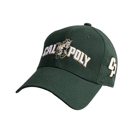 Amazon.com   Cal Poly Dark Green Heavyweight Twill Pro Style Hat ... 77a8291b1618