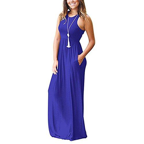 Vestito Donna Itisme Maniche Senza Blau Cocktail 7dHq61wPH