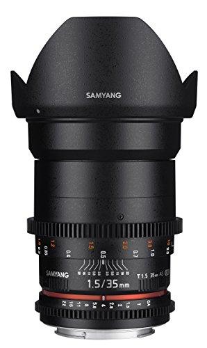 Samyang Cine SYCV35-NEX Lente de cine gran angular asférica T1.5 de 35 mm para Sony NEX VDSLR