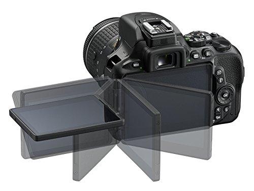 Nikon 1576 D5600 Dx-format Digital Slr With Af-p Dx Nikkor 18-55mm F3.5-5.6g Vr Lens, Black