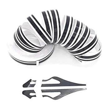 ZATOOTO Black Pinstripe Tape for Car - DIY Vinyl Pin Striping Decals Auto Waterproof Pin Stripe Tape Emblems Trim Universal for Automobile Musical Instrument Home Door etc