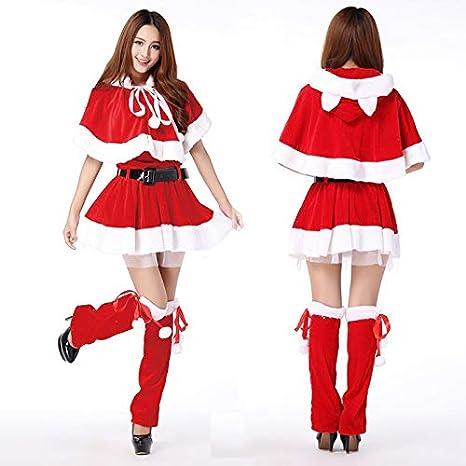 STEAPF Disfraz de Papá Noel para Mujer Disfraz de Navidad Cosplay ...