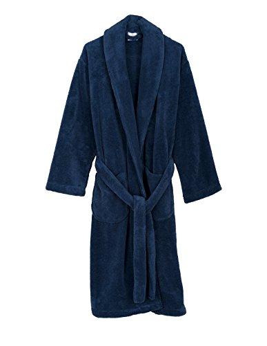 TowelSelections Men's Super Soft Plush Bathrobe Fleece Spa Robe Large/X-Large Bijou Blue
