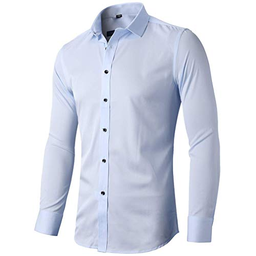 Sinzelimin Mens Button Down Shirts Long Sleeve 100/% Cotton Regular Fit Button Down Shirts for Men