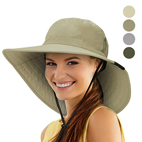 - Tirrinia Unisex Sun Hat Fishing Boonie Cap Wide Brim Safari Hat with Adjustable Drawstring for Women Kids Outdoor Hiking Hunting Boating Desert Hawaiian, Olive