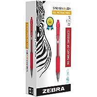 Zebra Pen ZEB46630 Zebra Sarasa Retractable Gel Ink Pens, Bold Point 1.0mm, Red, Rapid Dry Ink, 12-Count