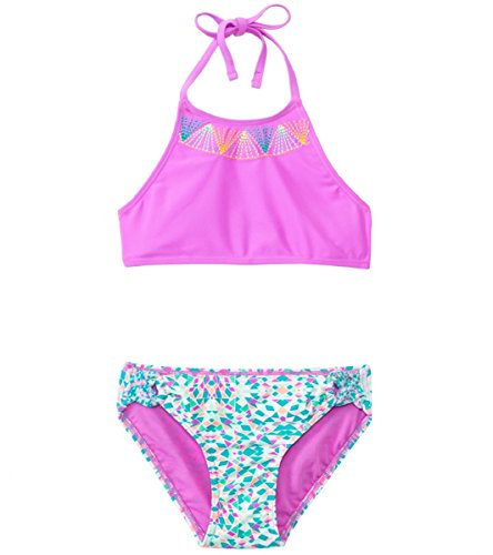 Price comparison product image Gossip Girl Girl's Fashion 1 Piece and Bikini Swimsuits (14, Mint Aztec)