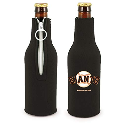 MLB Baseball Team Color Logo Bottle Suit 12oz Neoprene Holder Zipper Sleeve Cooler 2-Pack (San Francisco Giants)
