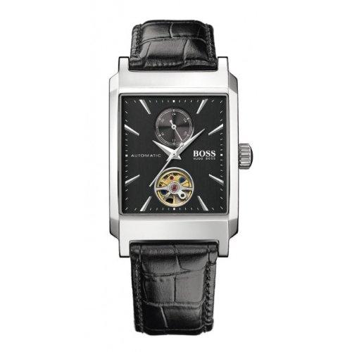 Hugo Boss 1512461 - Reloj de caballero automático, correa de piel color negro