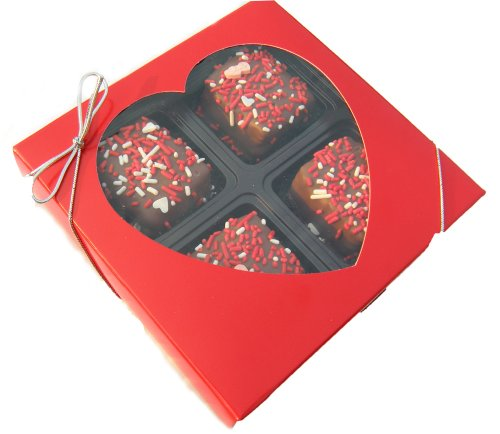 Chocolate Dipped Rice Krispie Treat Gift Box for Valentine's Day, Milk Chocolate
