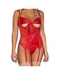 Panty Luk Estilo 927 Baby Doll Mujer Sexy Color Rojo Pasión Gran Diseño Sensual y Elegante Fina Lenceria para Dama