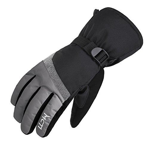 Fitself Waterproof Women Snowboard Gloves Touchscreen Winter Ski Skiing Hiking 3M Thinsulate Warm Snow Gloves Wristband Straps