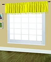 Editex Home Textiles Elaine Lined Pinch Pleated Valance, 48 by 18-inch, Yellow