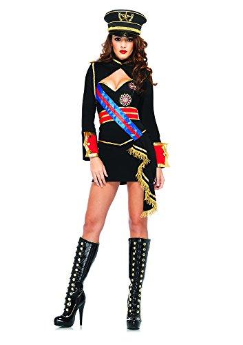 Diva Dictator Costume (Leg Avenue Women's 4 Piece Diva Dictator Costume, Black, Medium)