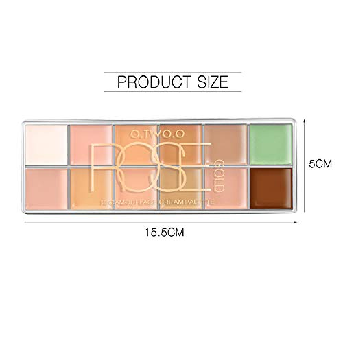 Sussmai Concealer Whitening Isolation Repair Brighten - 12 Color Cosmetic Palette Corrective Camouflage Palette Corrective Makeup Face ()