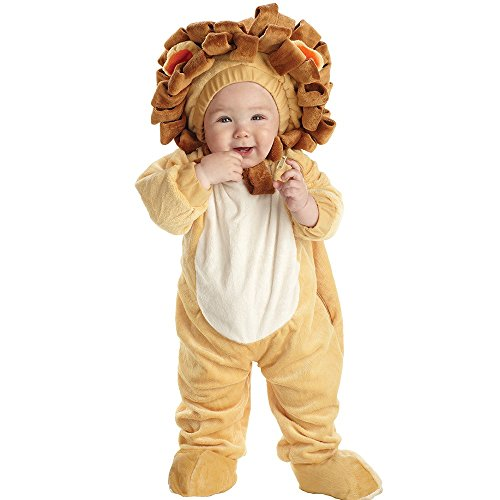 Underwraps Baby's Lion Printed, Tan/Brown, (Mufasa Halloween Costume)