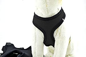 YAMAY nueva red de nailon gamuza ajustable perro arnés de ...