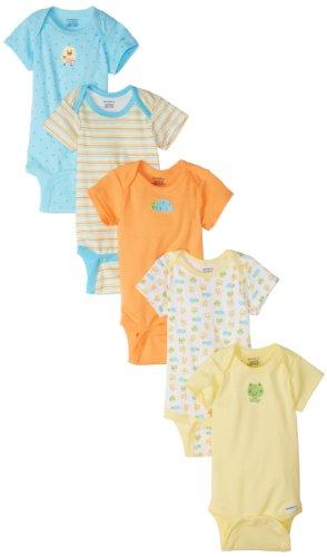 Gerber Unisex-Baby  Frogs And Ducks 5 Pack Variety Onesies Brand
