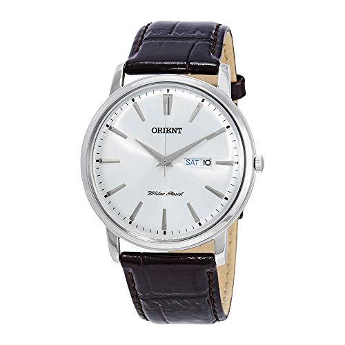 Orient FUG1R003W6 43mm Stainless Steel Case Brown Calfskin Mineral Men's Watch