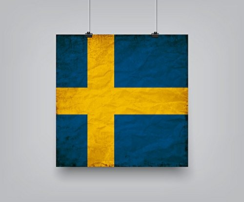 Swedish Flag Framed (Americanflat Swedish Flag Poster Print by Wonderful Dream, 10