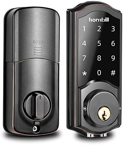 [2021 Newest Version] Keyless Entry Door Lock Deadbolt, Smart Lock Front Door, Electronic Door Locks with Keypads, Digital Auto Lock Bluetooth Smart Door Locks for Homes Bedroom