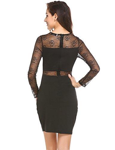 Elegante kleider knielang schwarz