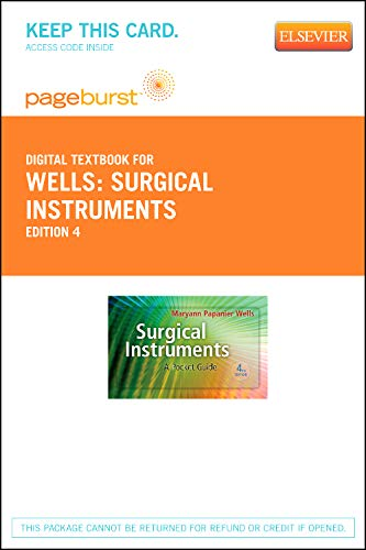 Surgical Instruments - Elsevier eBook on VitalSource (Retail Access Card): A Pocket Guide by Saunders