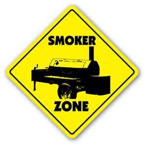 SMOKER ZONE Sign Decal bbq barbeque grill gift bar b que cooking chef pork ribs turkey