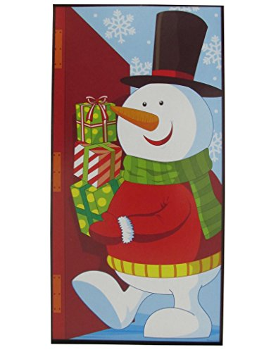 Holiday Essentials Christmas Snowman Door Cover - 30 x 5 Ft