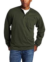 Key Apparel Men's Big & Tall Long Sleeve Heavyweight 3-Button Pocket Henley