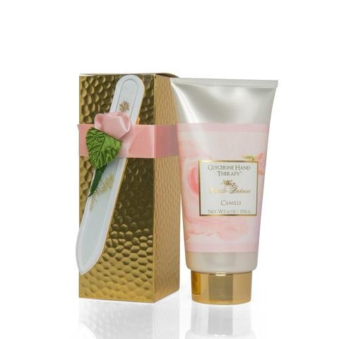 Camille Beckman Romantic Manicure Gift Set, Camille, Glycerine Hand Therapy 6 oz, Premium Crystal Nail - Glasses Kelly Grace