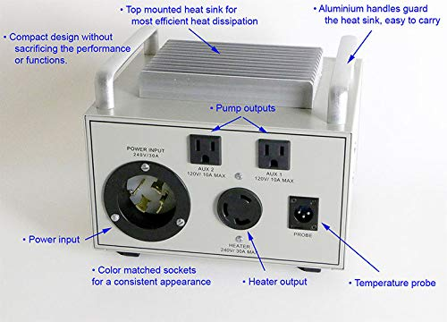 Deluxe 240V BIAB Controller with 2 x 120V Pump Control (CUBE 2S) by Auber Instruments (Image #2)