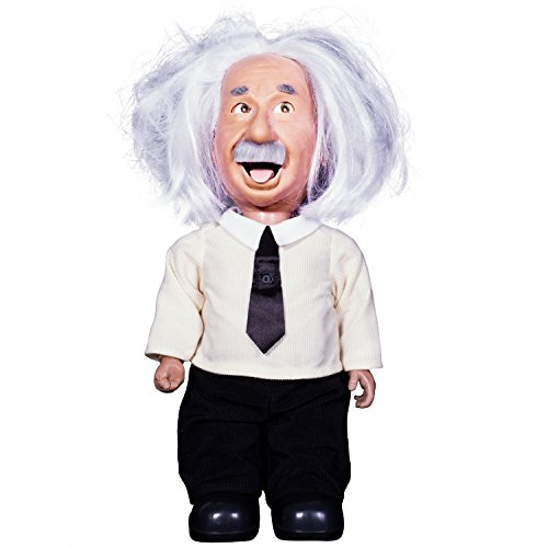 Professor Einstein Robot talks, walks, connects to Wifi, & uses voice commands. Play brain games & learn science from Albert Einstein character with realistic facial expressions.