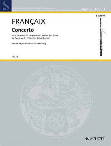 Concerto (Allemand) Partition – 1 janvier 2000 Jean Francaix Schott 0001093134 FAG18