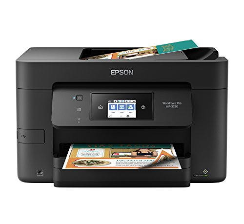 3. Epson Workforce Pro WF-3720 Wireless All-in-One Color Inkjet Printer, Copier, Scanner