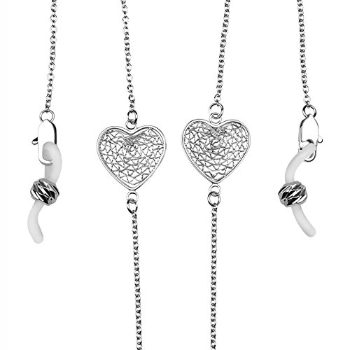 Eyeglass Chain Holder for Women Sunglasses & Galsses Holder Strap (Platinum) by COCOSAND