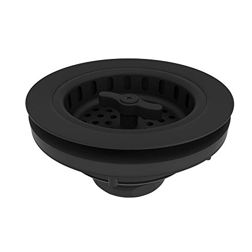 Brasstech 120/56 Large Solid Brass Wing Nut Locking Style Basket Strainer, Flat Black (Flat Black Basket)