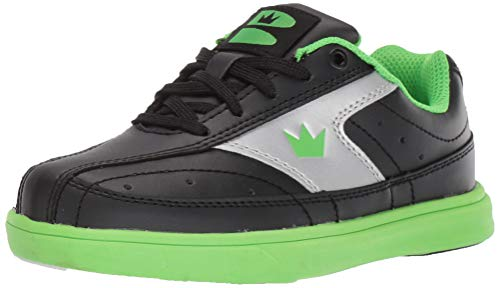 Brunswick Bowling Products Youth Renegade Bowling Shoes- M US, Black/Neon Green, 5