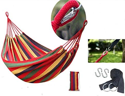 Outdoor Portable Parachute Hammock Beach Canvas Folding Hammock with Tree Straps