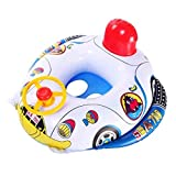 ThinIce Cartoon Boat Pattern Baby Inflatable Swimming Ring Seat Throw Rings