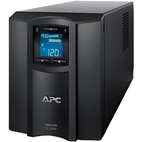 Optional Battery Backup Unit - APC Smart-UPS 1500VA UPS Battery Backup with Pure Sine Wave Output (SMC1500)