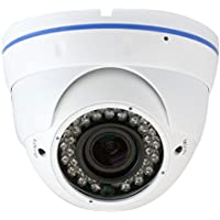 GW Security 5MP HD 1920P 2.8-12mm Varifocal Zoom Weatherproof Dome PoE Security IP Camera