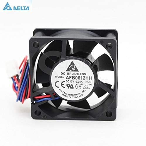 pin case axial cooling fans cooler alarm signal for delta AFB0612HH R00 ROO 6cm 60mm 6025 12V 0.2A 3