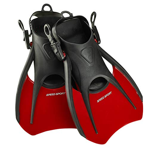 Phantom Aquatics Snorkeling Diving Fins - Open Heel Traveling Sport Fins - RD-MD