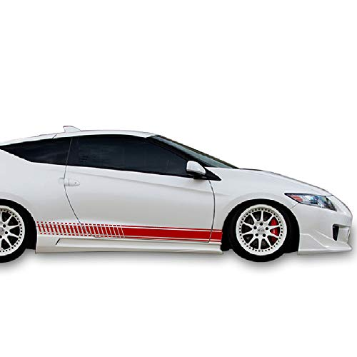 Bubbles Designs Set of Racing Side Stripes Decal Sticker Graphic Compatible with Honda CR-Z Hatchback 2010-2016