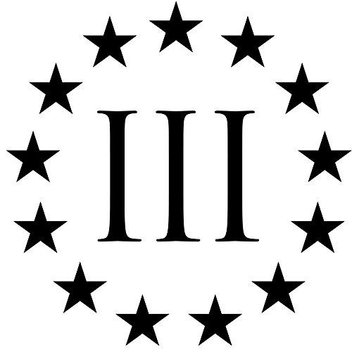 "Three Percenterビニールステッカーデカールfor anyフラットサーフェス複数のサイズと色 (QTY 1) 10"" X 10"" ブラック 3%ERS (QTY 1) 10\ ブラック B076Z1NLQP"