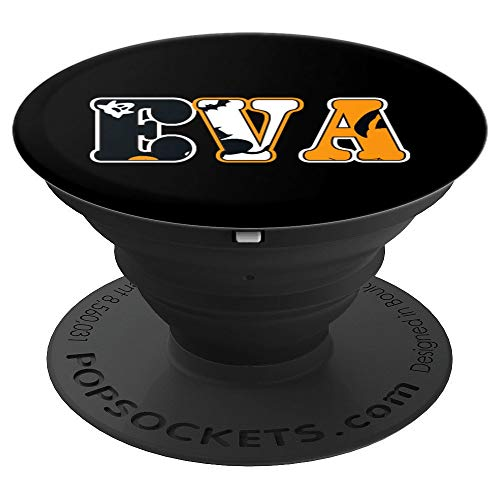 Eva Spooky Name Halloween Gift PopSockets Grip and Stand for Phones and Tablets