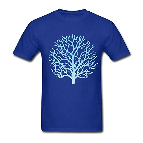 Price comparison product image Men's Fall Tree Crew Neck Blue XXL T Shirt Fitness