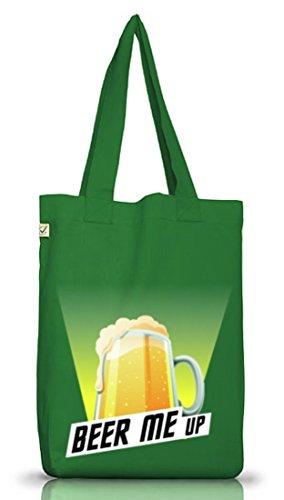 Jutebeutel Earth Positive für Bierfreunde. Beer me up Moss Green YjcTM